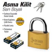 Sgs Asma Kilit Sarı Boyalı 50 Mm Ücretsiz Kargo...