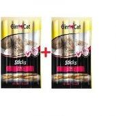 Gimcat Sticks Tavuklu Kedi Çubuk Ödülü 4lü Parça X 2 Paket