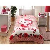 Lisanslı Hello Kitty Tek Kişilik Battaniye