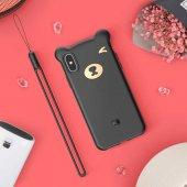 Baseus Bear Silikon Apple İphone Xs 5.8 Kılıf Siyah
