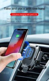 Baseus Smart Vehicle Bracket Wireless Charge Kablosuz Şarj Cihazı