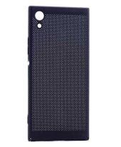 Sony Xperia XA1 Kılıf Delikli Rubber Kapak Siyah