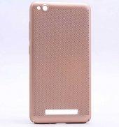 Xiaomi Redmi 4A Kılıf Delikli Rubber Kapak Gold
