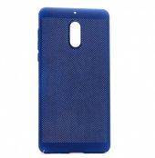 Nokia 5 Kılıf Delikli Rubber Kapak Lacivert