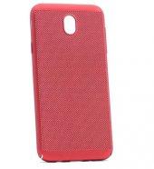 Samsung Galaxy J330 Pro Kılıf Delikli Rubber Kapak Kırmızı