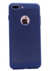 Apple İphone 7 Plus Kılıf Delikli Rubber Kapak Lacivert
