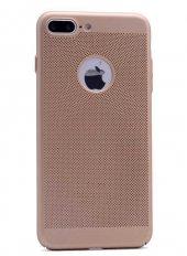 Apple İphone 7 Kılıf Delikli Rubber Kapak Gold