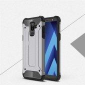 Galaxy A6 Plus 2018 Kılıf Crash Silikon kapak-Gri