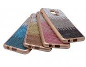 Samsung Galaxy J6 Kılıf Mat Lazer Taşlı Silikon