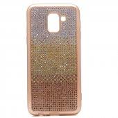 Samsung Galaxy J6 Kılıf Mat Lazer Taşlı Silikon-4