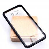 Samsung Galaxy S8 Kılıf Devrim Mıknatıslı Cam Kapak-5