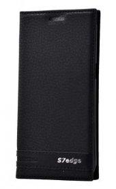 Samsung Galaxy S7 Edge Kılıf Elite Kapaklı Kılıf Siyah