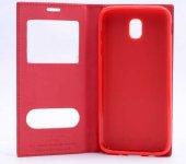 Samsung Galaxy J530 Pro Kılıf Elite Kapaklı Kılıf Kırmızı-2
