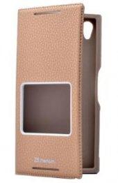 Sony Xperia Z5 Premium Kılıf Dolce Case kapaklı-5