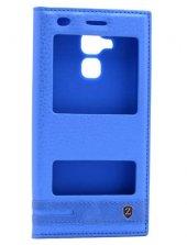 Huawei GR5 Kılıf Elite Kapaklı Kılıf Mavi
