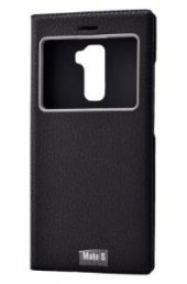 Huawei Mate s Kılıf Dolce Case kapaklı siyah