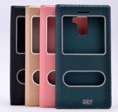 Huawei Honor 7 Kılıf Dolce Case kapaklı yeşil-2