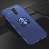Huawei Mate 10 Lite Ravel Silikon Kılıf Kapak mavi