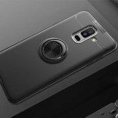 Samsung Galaxy A6 Plus 2018 Ravel Silikon Kılıf kapak Siyah