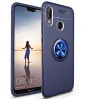 Huawei P20 Lite Ravel Silikon Kapak kılıf mavi
