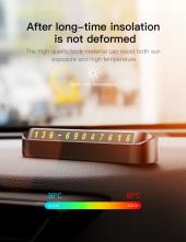 Baseus Tock Parking Number Card Araç İçi Telefon Numaratörü-3