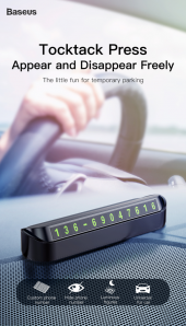 Baseus Tock Parking Number Card Araç İçi Telefon Numaratörü-6