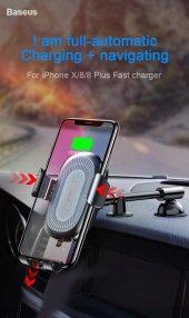 Baseus Heukj Wireless Charger Gravity CarMount Şarjlı Araç Tutucu-3
