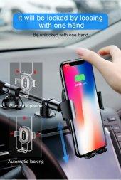 Baseus Heukj Wireless Charger Gravity CarMount Şarjlı Araç Tutucu-8