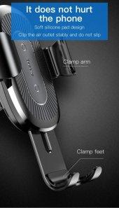 Baseus Heukj Wireless Charger Gravity CarMount Şarjlı Araç Tutucu-10