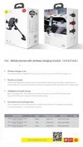 Baseus Heukj Wireless Charger Gravity CarMount Şarjlı Araç Tutucu-12