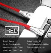 Baseus Zinc Fabric Cloth USB Kablo 2A İphone-4