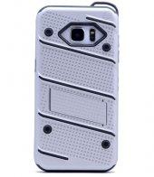 Samsung Galaxy Note5 Kılıf Iron Standlı Sabitlenebilir Arka Kapak-4
