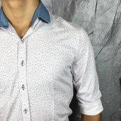Bpm Plus Quality Yaka Çıkarılabilir Polımer Likralı Gömlek-2