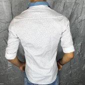 Bpm Plus Quality Yaka Çıkarılabilir Polımer Likralı Gömlek-4