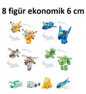 Harika Kanatlar Uçuş Ekibi Seti 8li Figür - Donnie, Jerome, Bell