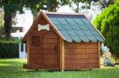 Mandu Isı Yalıtımlı Ahşap Köpek Kulübesi (Large) (İsimlik+mama Kabı Hediye)