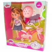 My Little Girls Bisikletli Bebek 021894-3