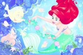 Prensesler Ariel 54 Plus Stickers Trefl