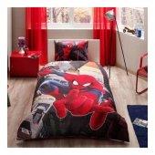 Örümcek Adam Nevresim Takımı- Spiderman In City - Taç Marka-2