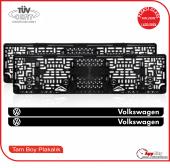 Volkswagen Logolu Pleksi Plakalık
