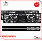 Porsche Logolu Pleksi Plakalık