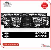 Hyundai Logolu Pleksi Plakalık