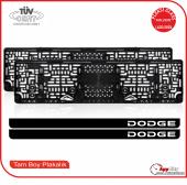 Dodge Logolu Pleksi Plakalık