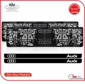 Audi Logolu Pleksi Plakalık
