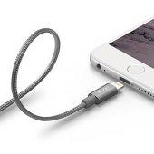Elago Çelik Örme Apple Kablosu(Mfi Sertifaklı) Gri