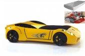 Araba Yataklar, Titi Ferrari Sarı Karyola, Yatak Ve Nevresim Dahi