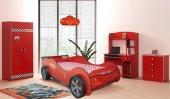 Arabalı Yataklar Set. Hızlı Kırmızı Karyola Set