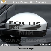 Ford Focus Ayna Kapağı Oto Sticker (2 Adet)
