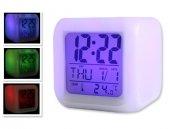 7 Renk Değiştiren Alarmlı Dijital Küp Saat-2