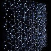 640 LEDLI 4 YOLLU BEYAZ PERDE LED - EBATLAR: EN 3 METRE - BOY 2 M-2